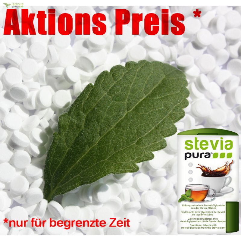 4000 st ck stevia tabs spender gratis aktion. Black Bedroom Furniture Sets. Home Design Ideas