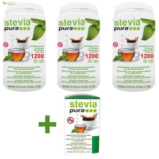 Stevia Tabs - Tablets 3 x 1200 refill + 300 - Promotion