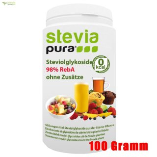 Stevia Extract - Rebaudioside-A - REB-A 98% 100g |  free measuring spoon